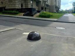 Полусфера антипарковочная бетонная 600х320 мм. черный цвет.