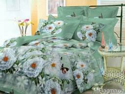 Полуторное/двуспальное постельное белье из ткани Бязь Голд