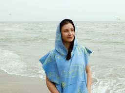 """Пончо - пляжний рушник з капюшоном """"Морські мешканці"""""""