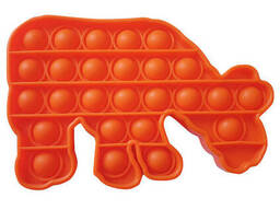 Pop It Антистресс Игрушка - (Поп Ит - Попит - Popit) - Оранжевый Бегемот