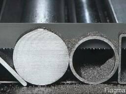 Порезка металла на лентопильном станке