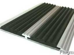 Поріг алюмінієвий прямий, подвійний 80х5 під різину б. п.