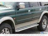 Пороги площадки для Mitsubishi Pajero Sport с 1998-2008 г. - фото 1