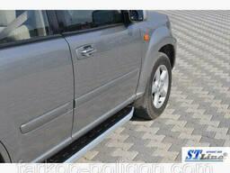Пороги площадки для Nissan X-Trail T30 с 2001-2007 г.
