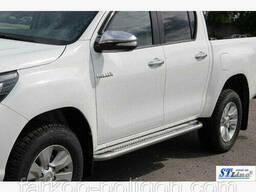 Пороги площадки для Toyota Hilux с 2015 г.