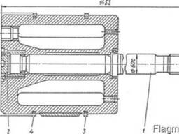 Поршень ∅330 со штоком на компрессор 4М10-40/70