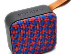 Портативная Bluetooth колонка T5, красно-синие крестики