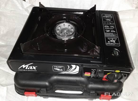 Портативная газовая плита двойного действия с адаптером в кейсе MAX №66-4