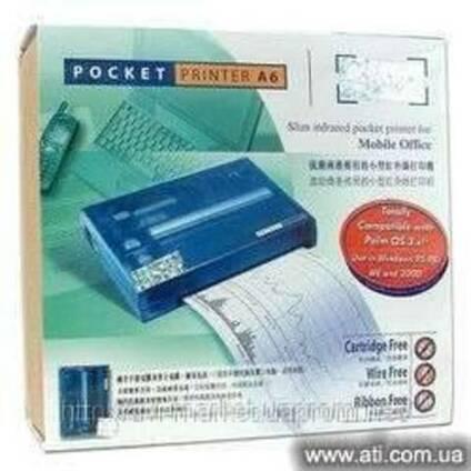 Портативный принтер SiPix PocketPrinter формат A6 RS-232, ИК