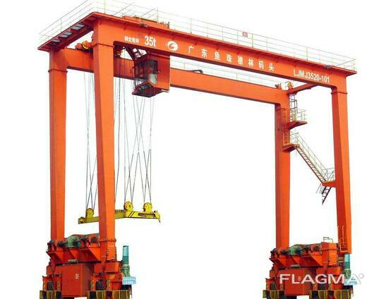 Портовой козловой контейнерный кран RTG