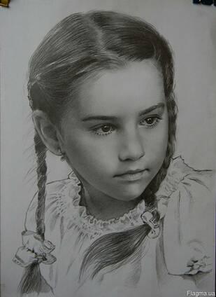 Портрет, нарисовать, на заказ, по фото, недорого, карандаш,