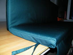 Пошив мягких сидений на качели садовые