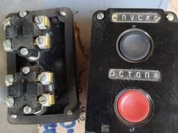 Пост кнопочный ПКЕ 122-2 открытый СССР