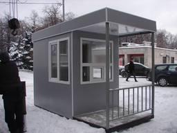 Пост охраны, проходная, КПП, модульный дом