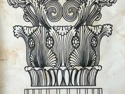 Постер капитель колонны Коринфского ордера дизайнерский рельефный 70 см х 90 см