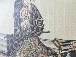 Постер японский свиток по мотивам Укиё-э Сюбун Тэнсё Сэссю Сансуй Тёкан дизайнерский. ..