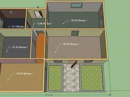 Построим дом 125, 7 м. кв. 1 этаж. Проект Честер.