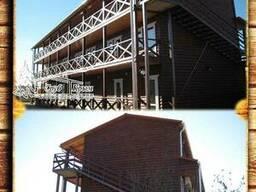 Построить деревянный каркасный отель 210 м² в Крыму