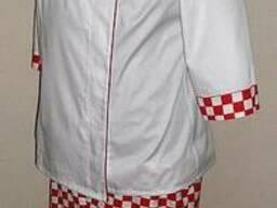 Поварской костюм, поварская форма, китель и брюки повара