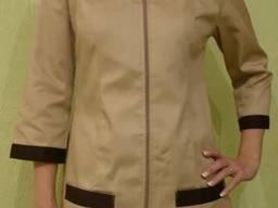 Поварской костюм. Ткань: мед-твил (диагональ), цвет бежевый коричневый