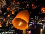 Повітряні ліхтарики, китайські паперові ліхтарі Серце, Купол - фото 5
