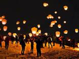 Повітряні ліхтарики, китайські паперові ліхтарі Серце, Купол - фото 6