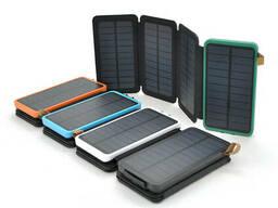 Power bank 12000 mAh Solar, (5V/200mA), 2xUSB, 5V/1A/2. 1A, микс-цвет, USB microUSB. ..
