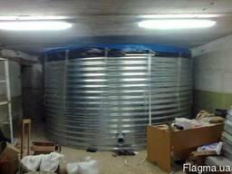 Пожарный резервуар на 800 кубов для воды, емкость 800 м3