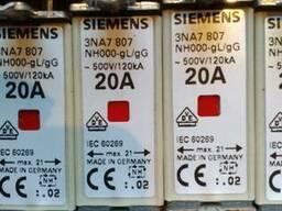 Предохранители 3NA7807 500V 20A Siemens (Германия)