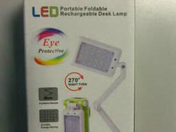 Прекрасная настольная LED Лампа аккум. +сеть NO. 1019. ..
