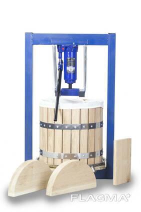 Пресс для сока 25 литров ручной гидравлический с дубовой корзиной. Соковыжималка для. ..