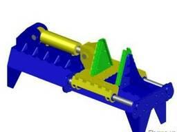 Пресс гидравлический для формования сегментов спирали шнек