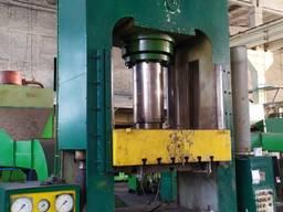 Пресс гидравлический, двухстоечный , для термоплит ДБ2434, 250т.