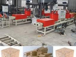Пресс станок для производства шашки из опилок, бобышка
