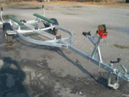 Прицеп для лодки до 5.0м с трапом посредине (усиленный)