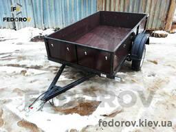 Прицеп легковой фанерные борта 9 мм 1250х2150х400 - Fedorov
