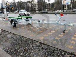 Прицеп оцинкованный лодочный (лафет) для килевых алюминиевых лодок 5.5 - Fedorov