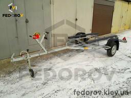 Прицеп оцинкованный лодочный (лафет) для ПВХ лодок, скутеров с трапом 4, 3 - Fedorov
