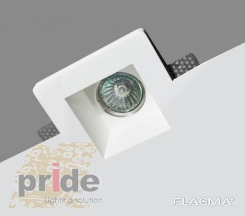Pride Светильник точечный 79129 гипс серия Trimless