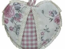 Прихватка Серце Bella Троянди/Рожева клітинка з мереживом SKL58-251931