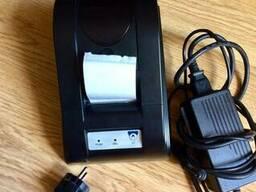 Принтер чеков SP-POS58III, сканер штрихкодов