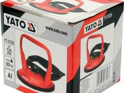 Присоска для монтажу скла одинарна YATO: чашка Ø= 125 мм, m= 60 кг