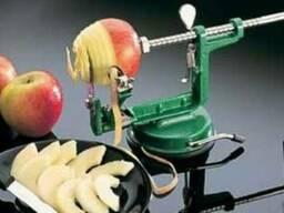 Приспособление для чистки, нарезки яблок.
