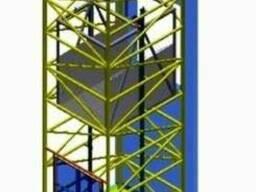 Приставной-пристенный подъёмник-лифт под заказ.
