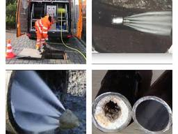Пробивка канализационных труб гидроударом