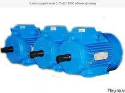 Продаем электродвигатели 0, 75 кВт 1500 об/мин. В наличии эле