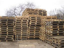 Продаем поддоны деревянные б/у в Киеве, ремонт поддонов Киев