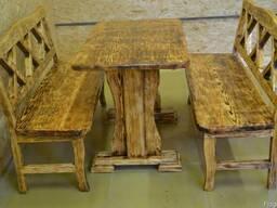 Набор мебели для сада. Сделан под старовину.