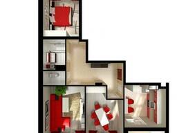 Продам 3-х комнатную квартиру в сданном доме, средний этаж