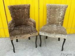 Продам б/у кресла дерево-велюр для кафе 1250грн